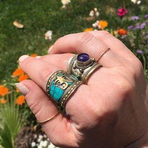 Jewelry - 🍒Purple bohemian statement ring